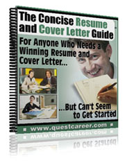 Resume Guide Table Of Contents